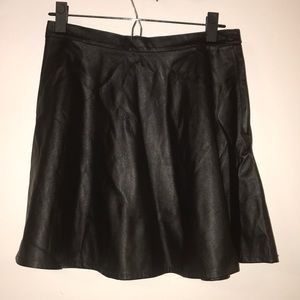 American apparels faux leather skater skirt